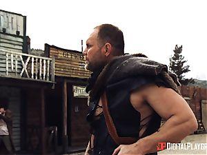 Canela flesh outdoor labia thrash with strung up cowboy Nacho Vidal