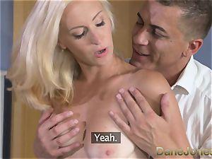 DaneJones super-sexy blonde wifey sucks and pummels her man