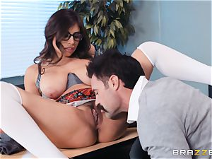 slamming that enormous man-meat into Ella Knox in class